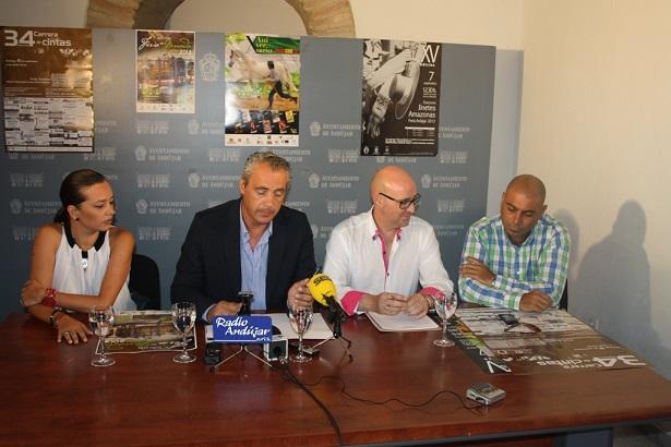 Raquel Claramonte, Joaquín Luque, Antonio Jesús Pareja y Miguel Ángel Maldonado, en la presentación del certamen.