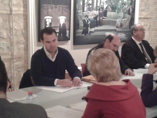 El secretario general de COAG-Jaén, Juan Luis Ávila, en la reunión con la Consejera de Agricultura.