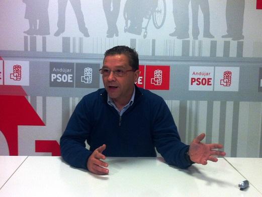 El  portavoz municipal de Grupo Socialista en Andújar, Francisco Huertas.