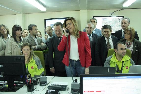 La presidenta de la Junta de Andalucía, Susana Díaz, activa el Plan del Cerro para la Romería.
