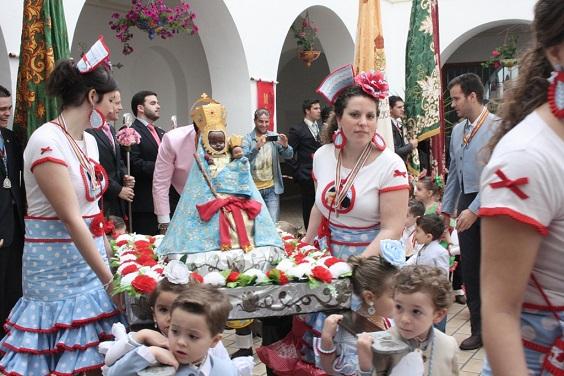 Una imagen del Viernes de Romería en Andújar.