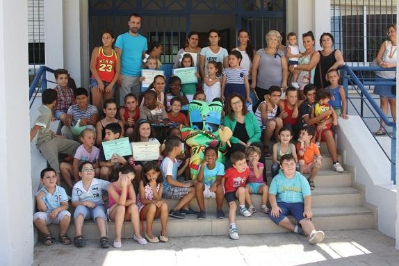 Acto de clausura de la Escuela de Verano en Andújar. Foto de familia.