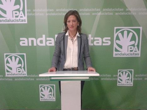 La candidata a la Alcaldía de Andújar por el Partido Andalucista, Encarna Camacho.
