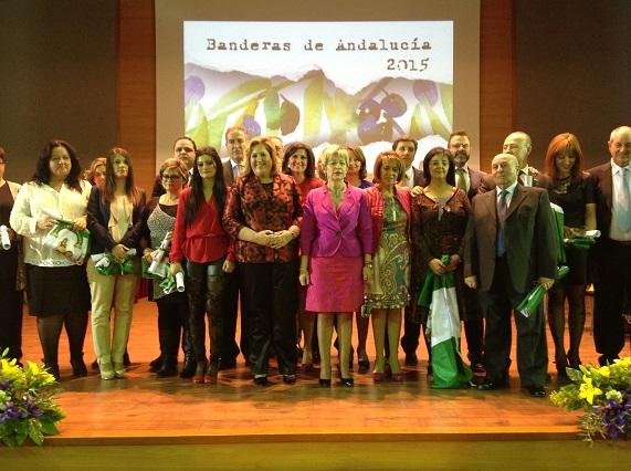 La consejera de Agricultura, Elena Víboras, junto a los galardonados por el Día de Andalucía.