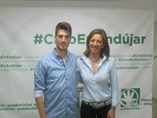 La candidata andalucista a la alcaldía por Andújar, Encarna Camacho.