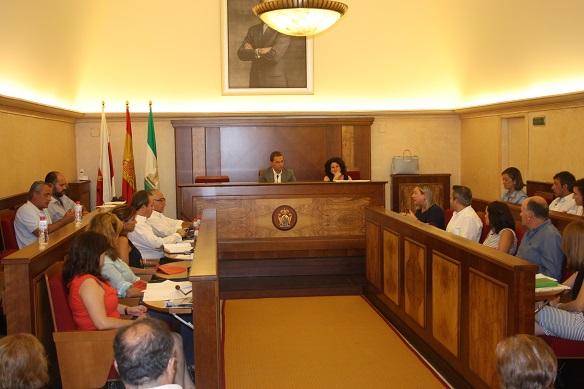 Pleno municipal celebrado  por el Ayuntamiento de Andújar.