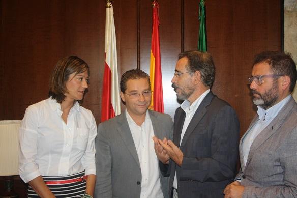 Encarna Camacho, Francisco Huertas, Felipe López y Rafael Valdivielso.