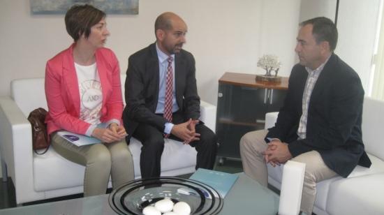 Antonio de la Torre se ha reunido con responsables de FAECTA (Federación Andaluza de Empresas Cooperativas de Trabajo) en Jaén.