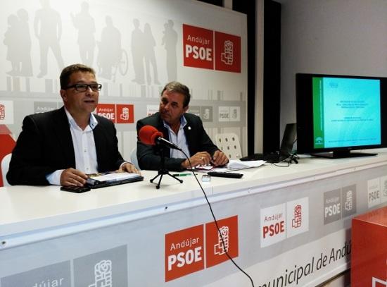 El Delegado de Medio Ambiente, Juan Eugenio Ortega, junto al alcalde de Andújar, Paco Huertas.
