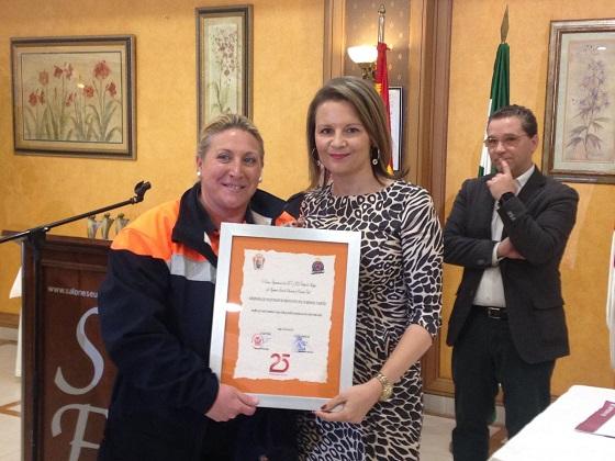 La delegada del Gobierno, Ana Cobo, y el alcalde de Andújar, Francisco Huertas, presidieron este acto.