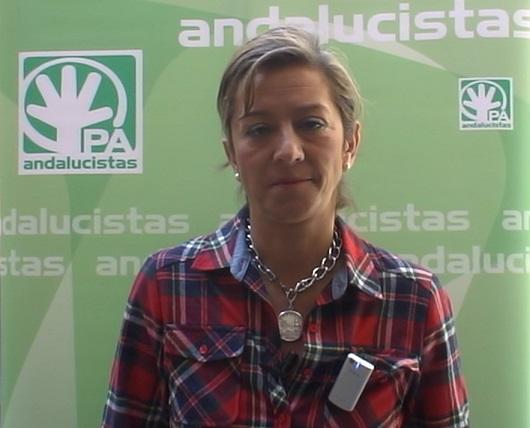La portavoz del grupo andalucista en el Ayuntamiento de Andújar, Encarna Camacho.