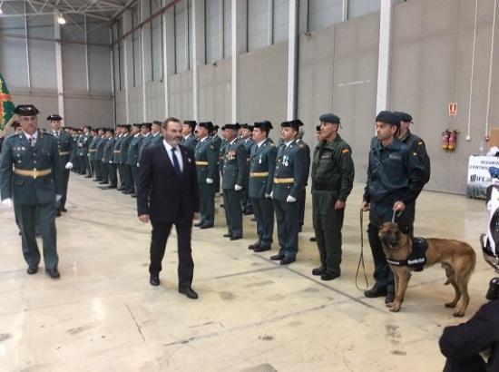 El subdelegado del Gobierno en Jaén, Juan Lillo, presidió los actos por el Día del Pilar.