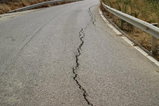 Una imagen de la carretera Lopera-Porcuna.