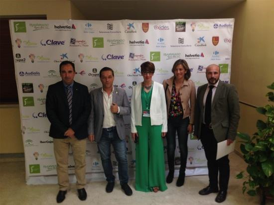 Autoridades asistentes a este congreso celebrado en Andújar.