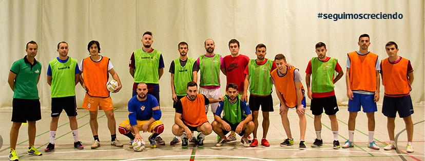 Componentes del equipo de Porcuna Futsal.,. Foto: Alberto Gallego.