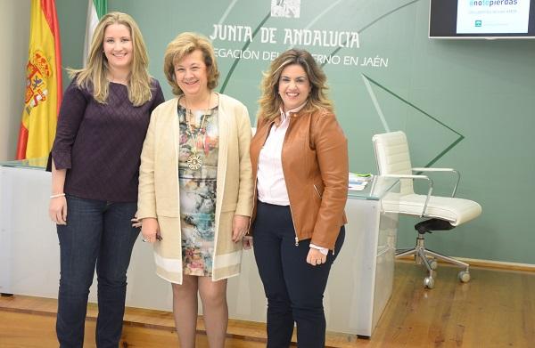 Ana Morillo, Teresa Vega y Beatriz Martín, durante esta presentación.