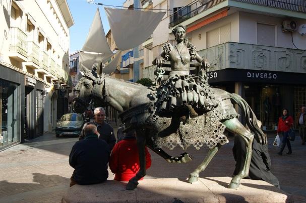 Monumento a la Jamuga, en Andújar.