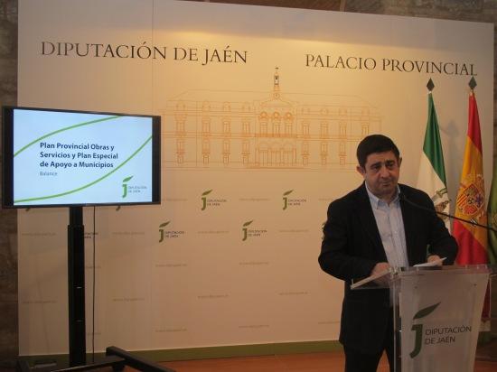 Francisco Reyes, durante su comparecencia.  Foto: Diputación de Jaén.