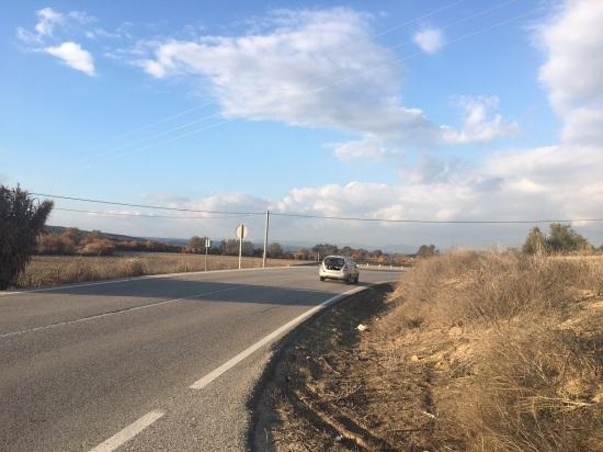 Tramo de la carretera A-6175 donde se produjo el accidente.
