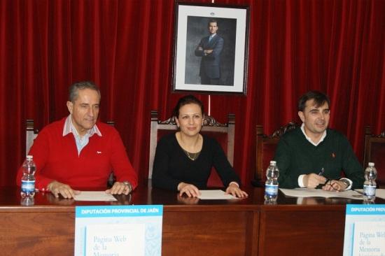 Miguel Ángel Valdivia, Isabel Uceda y Juan Ángel Pérez.