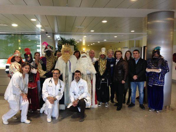 Los Reyes Magos han visitado hoy el Hospital de Andújar.
