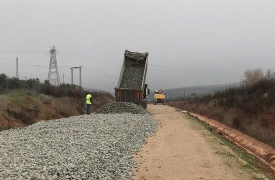 Actuales obras en el ramal ferroviario Linares-Vadollano.
