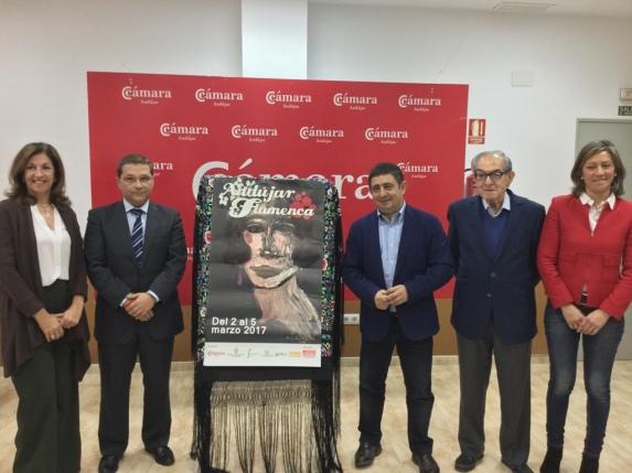 Francisco Reyes, tercero por la derecha, ha participado junto a Eduardo Criado y Paco Huertas en la presentación del cartel de esta edición.