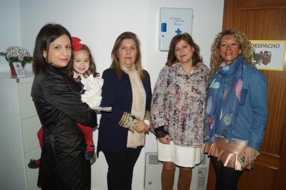 Isabel Uceda, Juana Martínez, María Eugenia Valdivielso y Carmen Torres.