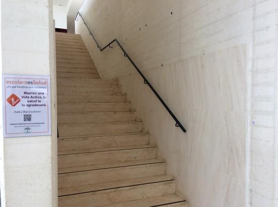 Una imagen de escaleras en el Hospital de Andújar.